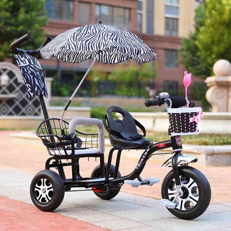 Baby Child Double Tricycle Bicycle Baby Twin Stroller