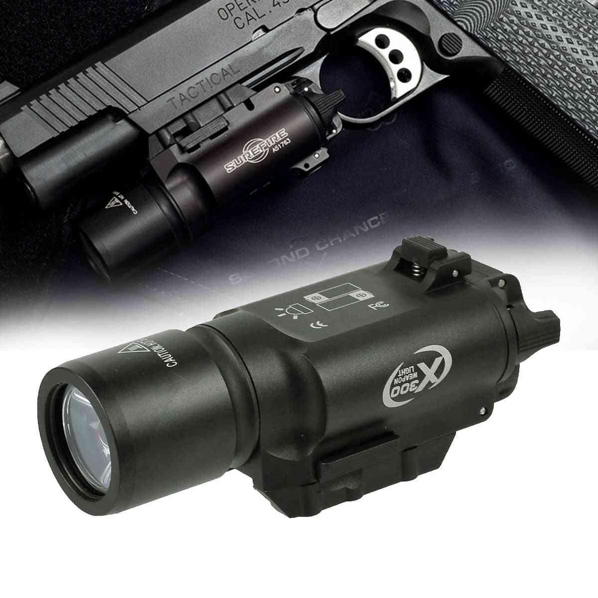 Lumens Tactical Ultra Pistol Gun Weapon Light, Lanterna Airsoft Flashlight, Picatinny Weaver Rail