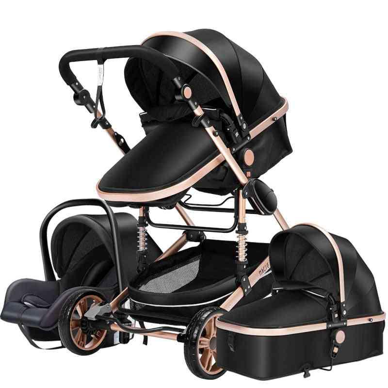 Newborn Baby Stroller, Pushchair, High Landscape Tricycle Walker