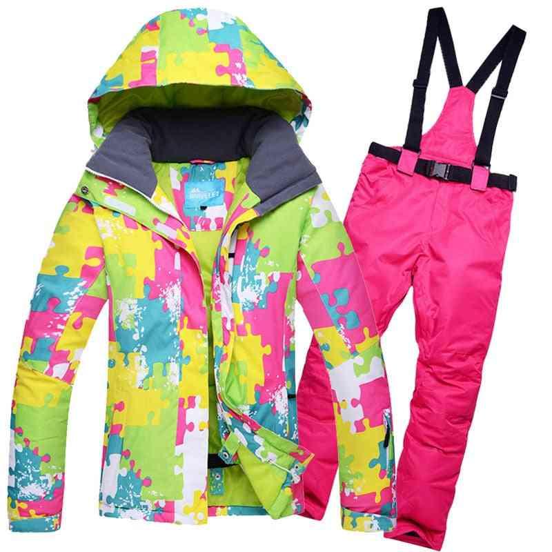 Winter Ski Brands High-quality Jacket/pants For Women Warm Waterproof Skiing