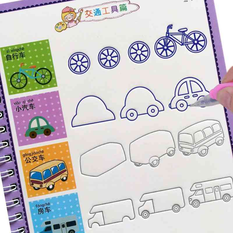 English And Numbers Learning-practice Baby Copybook