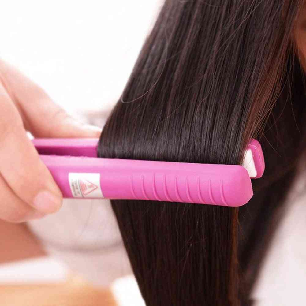 Electronic Professional Hair, Iron Hairstyling Mini Portable Ceramic Flat Straightener, Styling Tools