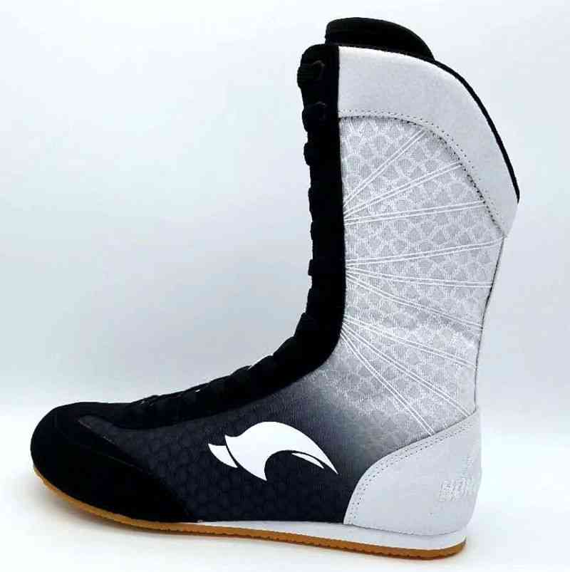 Rubber Outsole Breathable Combat Sneakers - Professional Boxing Wrestling Shoes