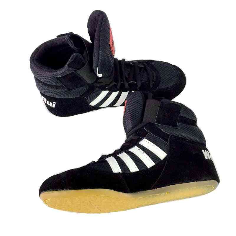 Professional Boxing Wrestling Shoes- Rubber Outsole Breathable Combat Shoes