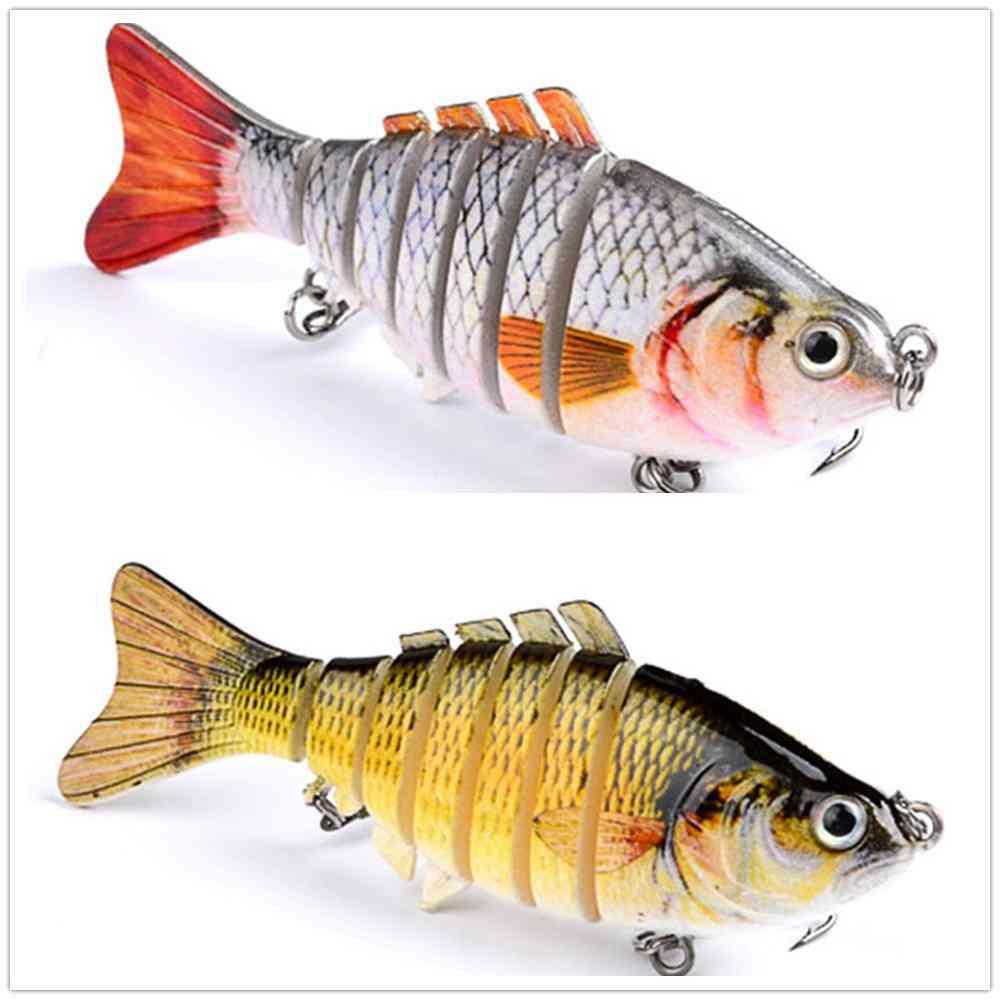 Fishing Baits Trolling, Swim Minnow Wobbler Multi-section, Hard Artificial, Crankbait