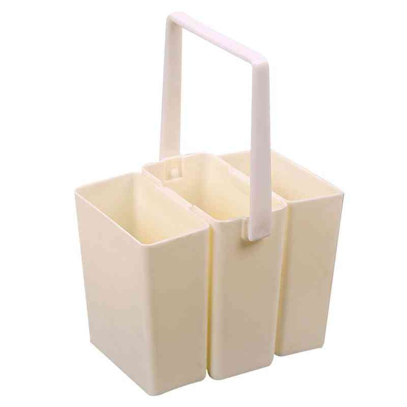 Practical Durable Plastic Detachable Wash Pen/barrel Brush Washing Bucket