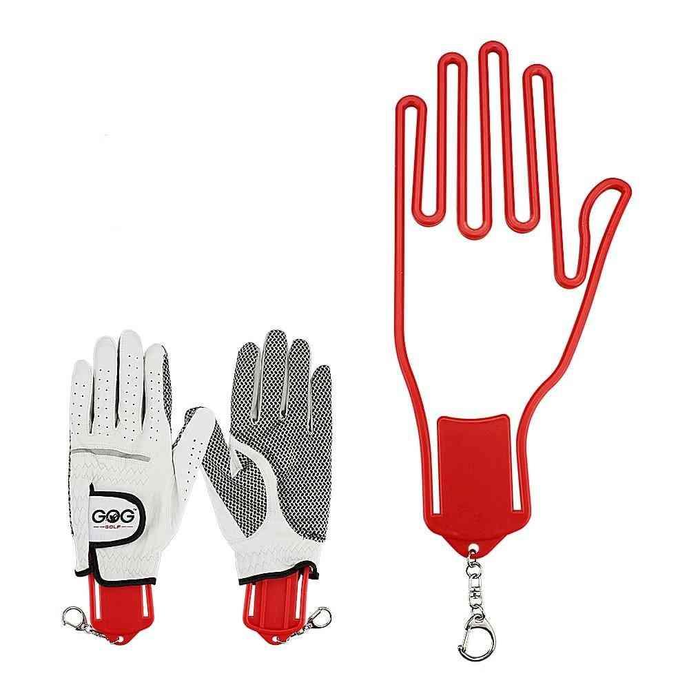 Golf Glove Holder With Key Chain, Plastic Glove Rack, Dryer Hanger Stretcher