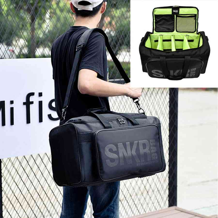Large Fishing Reel Bag- Wearable Waterproof Tackle, Shoulder Backpack