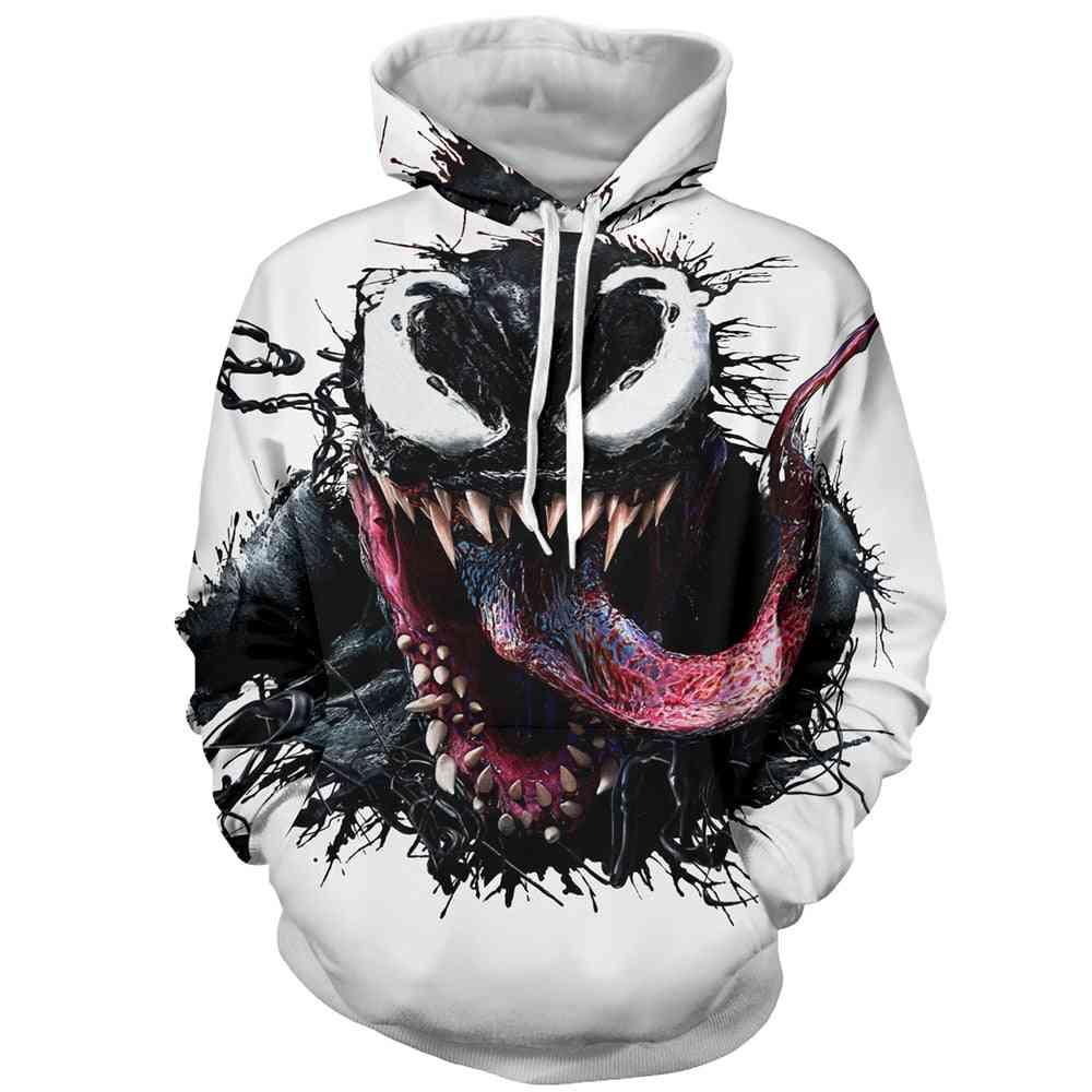 3d Venom Cartoon Printed-casual Hoody Sweatshirt