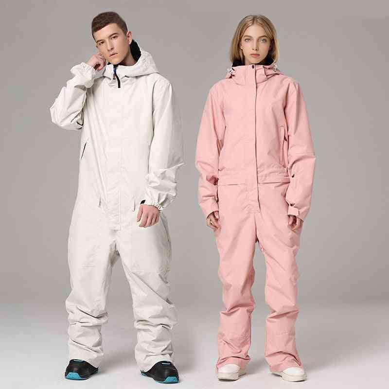 Man Women Waterproof Hooded Sport Snow Skiing Suit Winter Outdoor Wear
