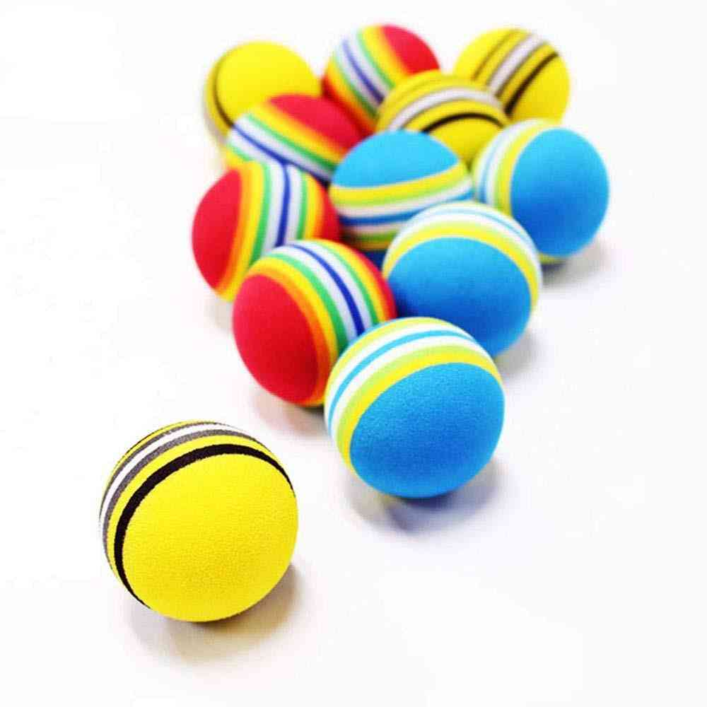 Colorful Rainbow Golf Balls For Indoor Practice For Beginners
