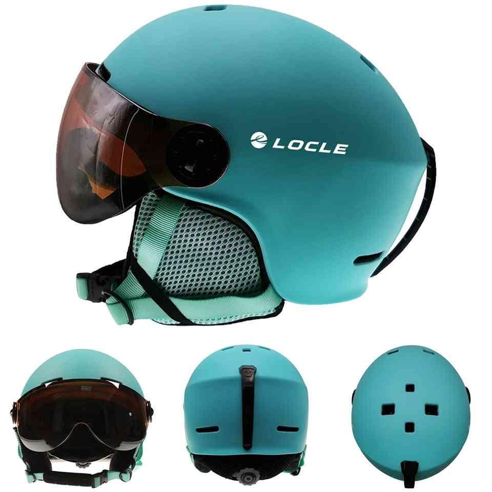 Men & Women Skating Skateboard Helmet With Goggles