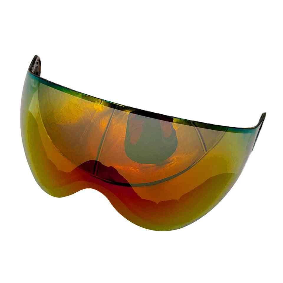 Detachable Anti-fog/uv Snowboard Helmet Spare Visor/lense