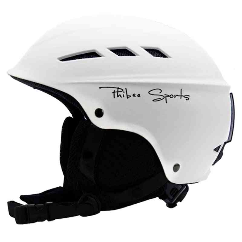 Sport Helmet With Air Vent, Comfortable Villus Strap And Ski Goggle Band