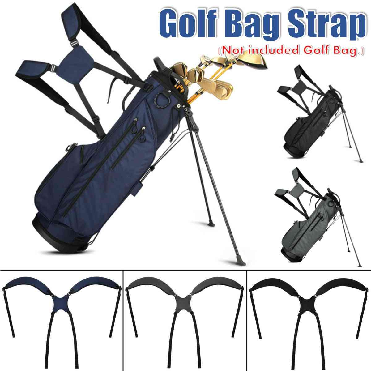 Golf Shoulder Strap Padded For Carry Bag, Foldable/ Adjustable/ Replacement Accessories
