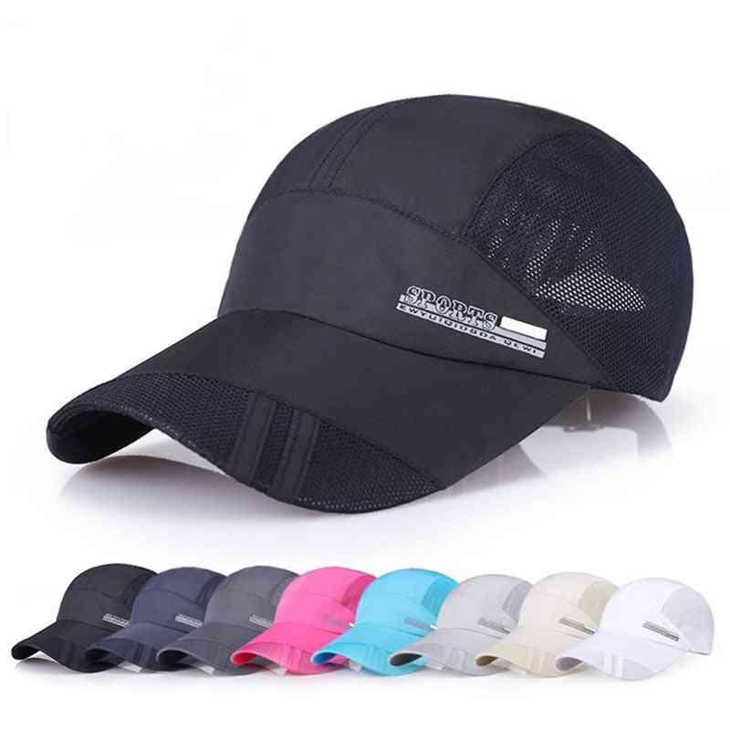 Breathable Running Golf & Fishing Baseball Caps, Sunshade Mesh Hat & Women