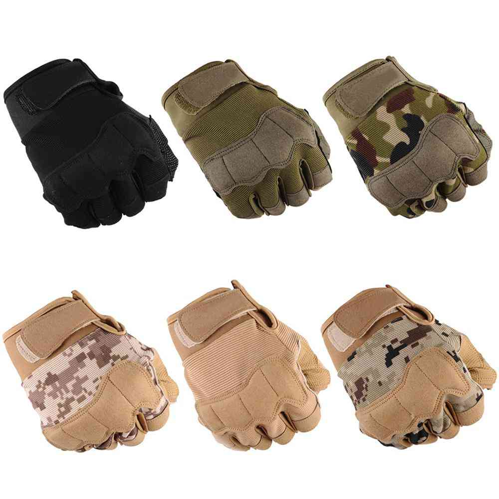 Hunting Half-finger Army, Military, Tactical Gloves, For Fitness, Weight Lifting Gloves