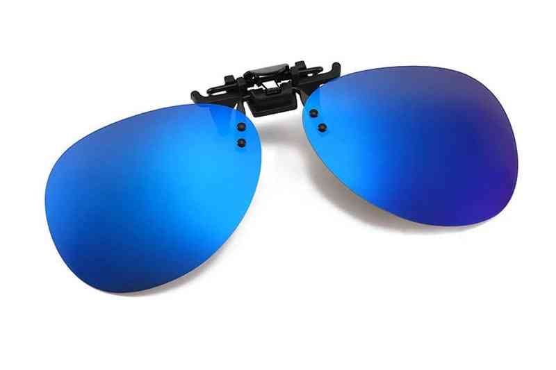 Mens, Womens Polarized Clip On Sunglasses, Driving Night Vision, Anti Uva Clips Riding