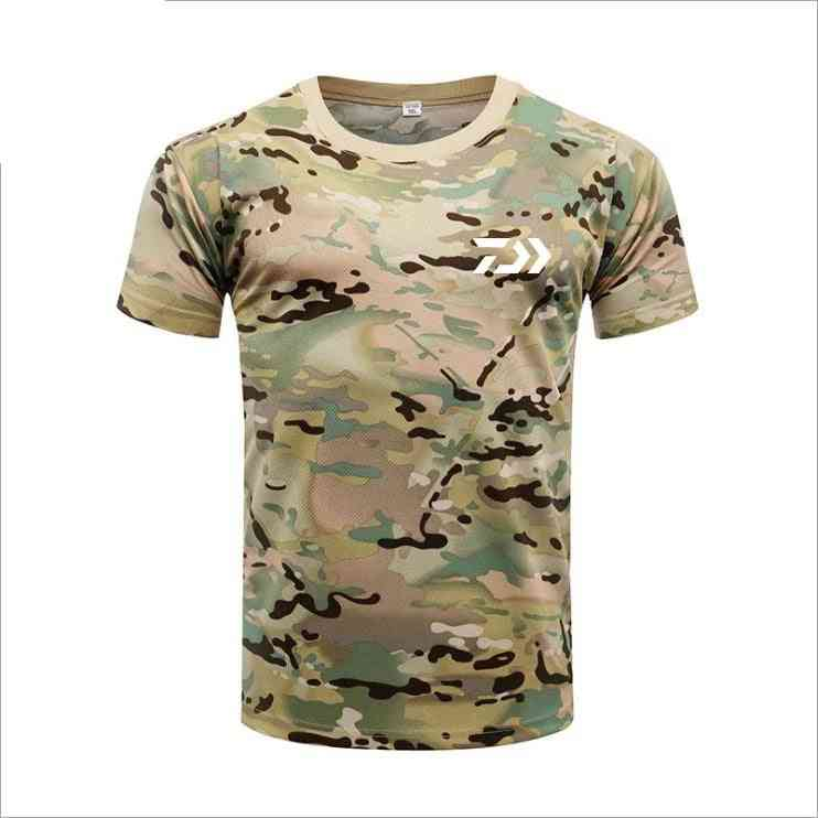 Breathable Short Sleeve Camouflage Sports T-shirt
