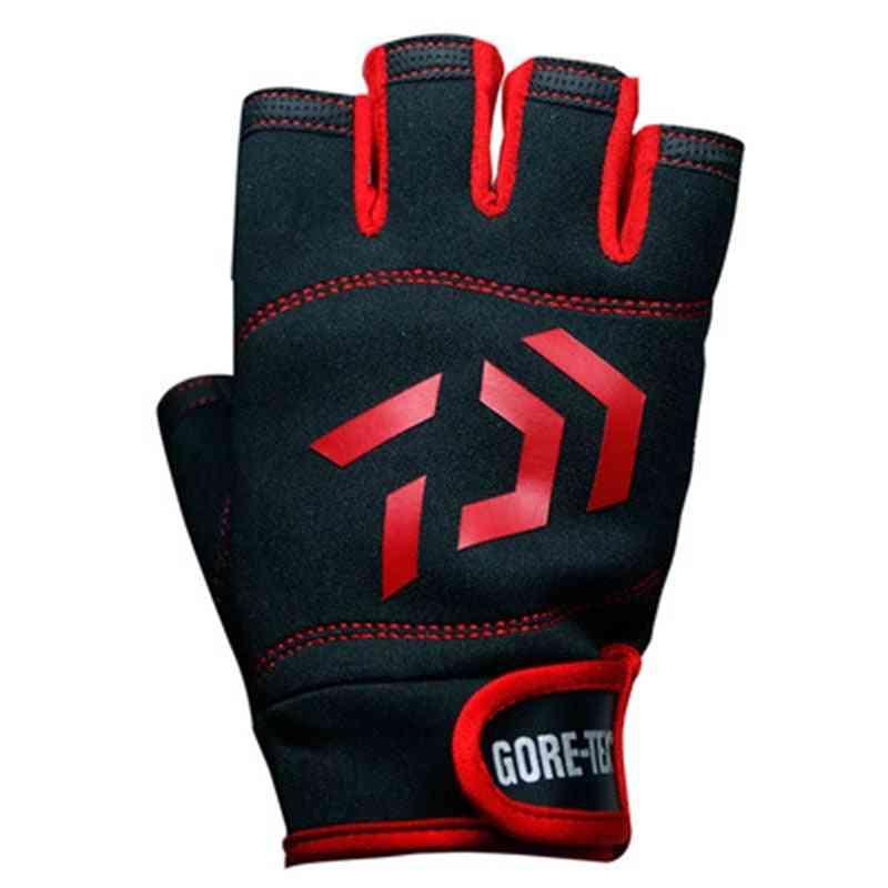Half Finger Covered, Non-slip Fishing Gloves