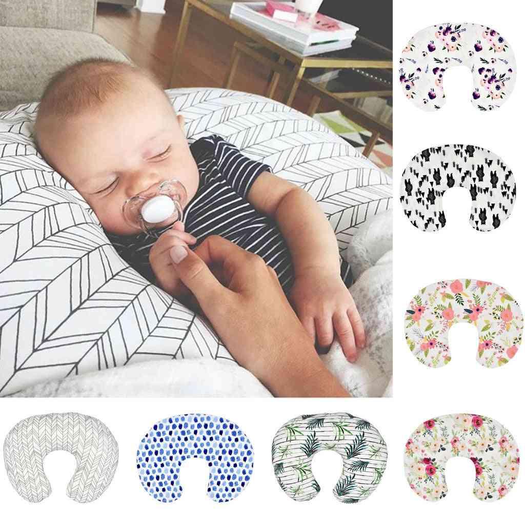 Flower Print U Shape, Removable Pillow Cover For Newborn Breastfeeding