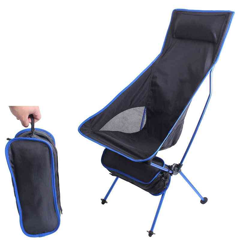 Outdoor Camping Ultralight Folding Chair, Travel Fishing Bbq Hiking, Strong High Load