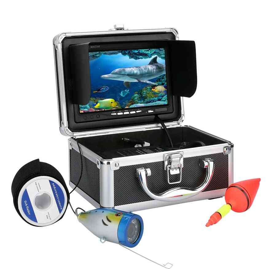 Underwater Fishing Video Camera Kit, Led Lights With Monitor