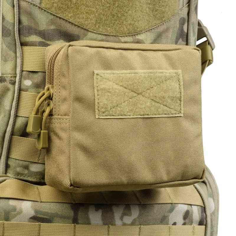 Outdoor Military Tactical Waist Bag, Zipper Waist Pack Accessory Durable Belt Pouch