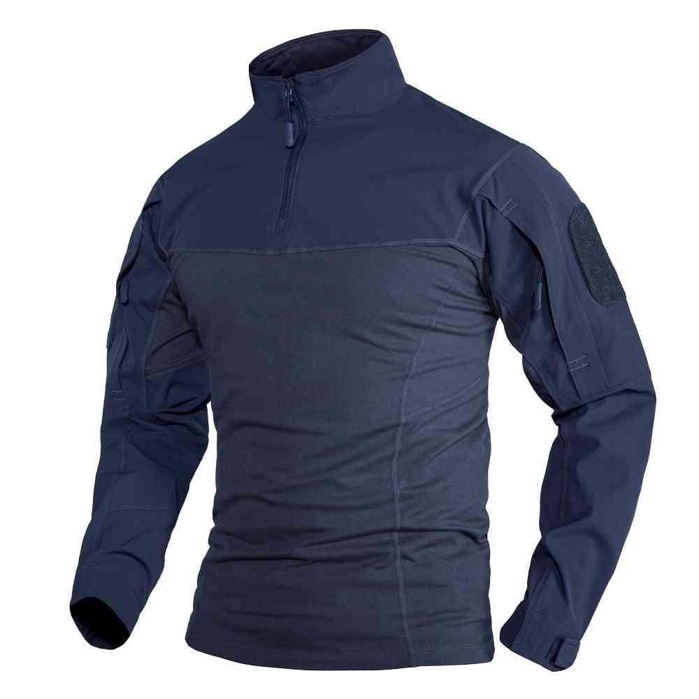 Men Workout Training T-shirts, W Zipper Pockets Tops