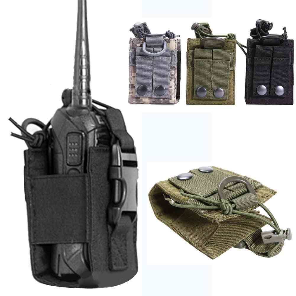 Pouch Walkie-talkie Holder Bag, Tactical Pendant Military Nylon Radio Magazine Mag Pouch Pocket