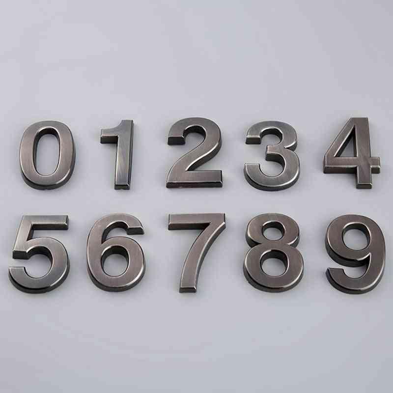 Numeral Door Plaque Number, Plastic Digits 0 To 9
