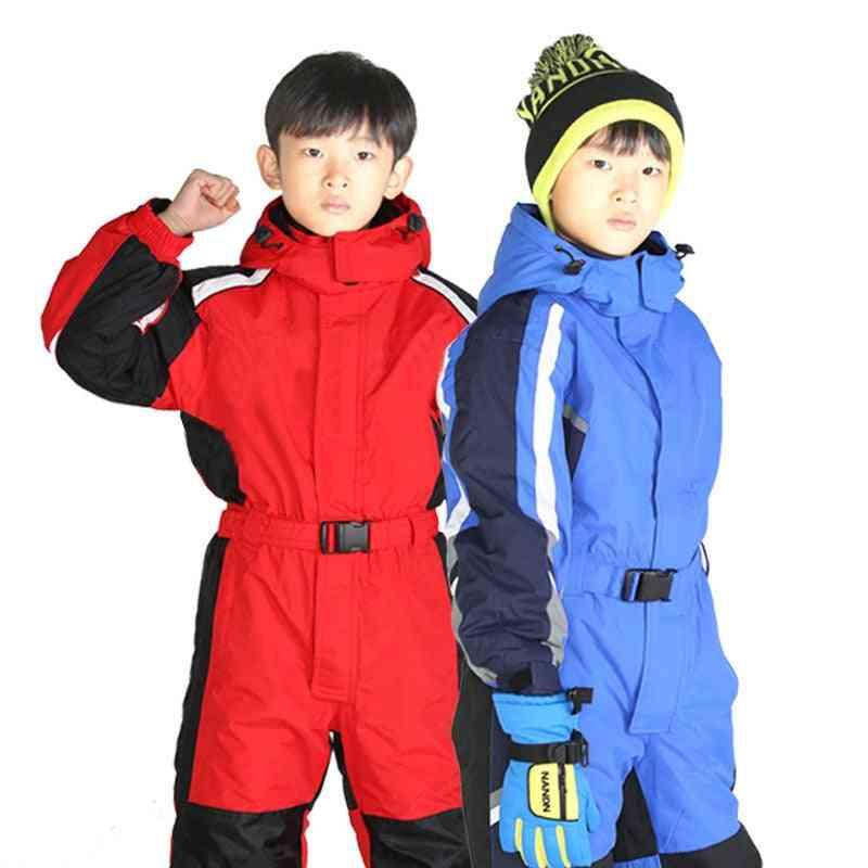 Winter Waterproof Warm Jumpsuit Sets For Kids