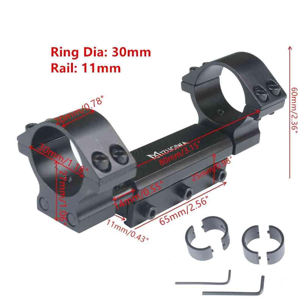 Scope Mount Rings W/stop Pin Zero Recoil Base Adapter Picatinny Rail Weaver Airgun