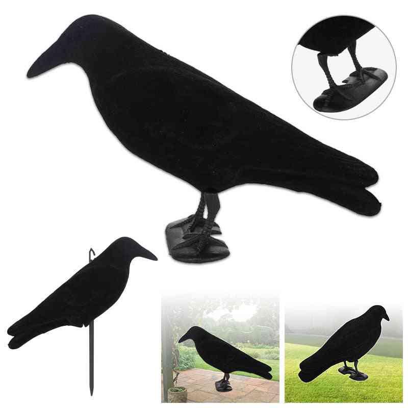 Fake Bird Hunting Creative Realistic Pe Yard Decor, Outdoors Trap Crow Decoy