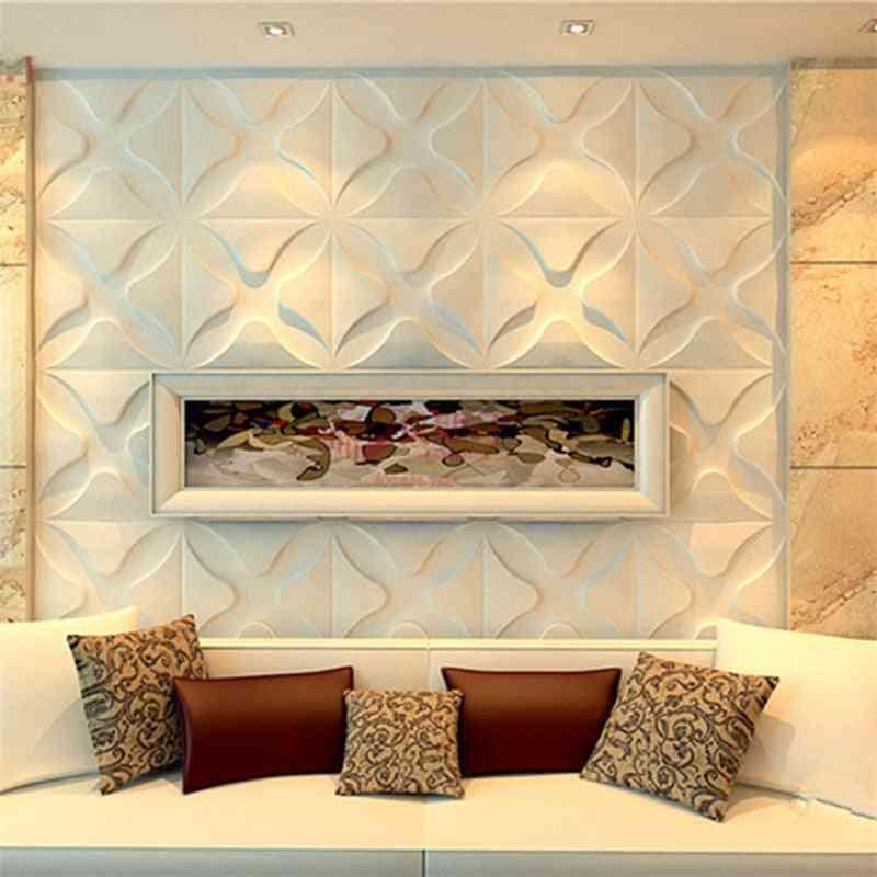 3d Art Wall Panel - Rose Flower Wallsticker, Wood Carving Board