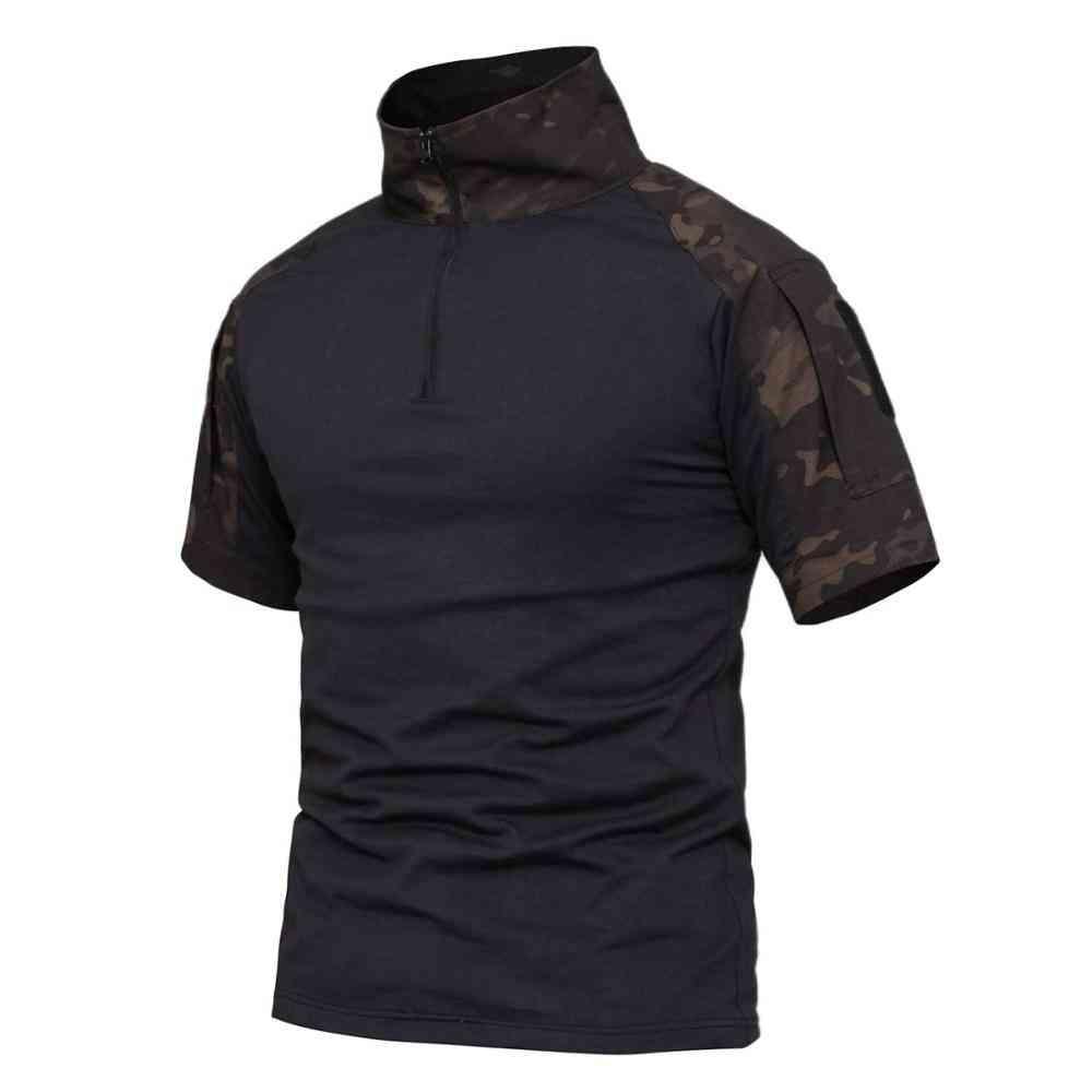 Men's T-shirt Plus Sizes Stitching, Tactical Hunting Fishing Shirt