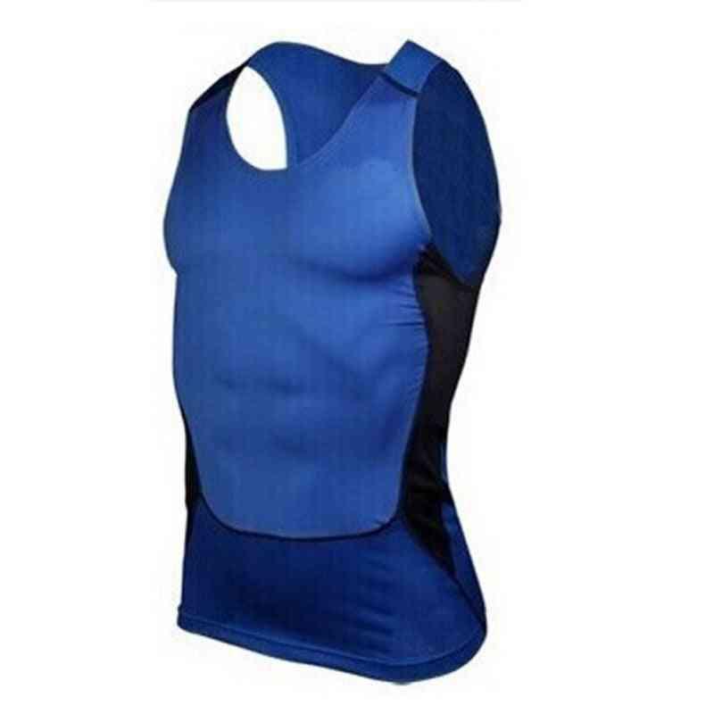 Men Sleeveless Sport Vest Man Compression Sport Tight Shirt