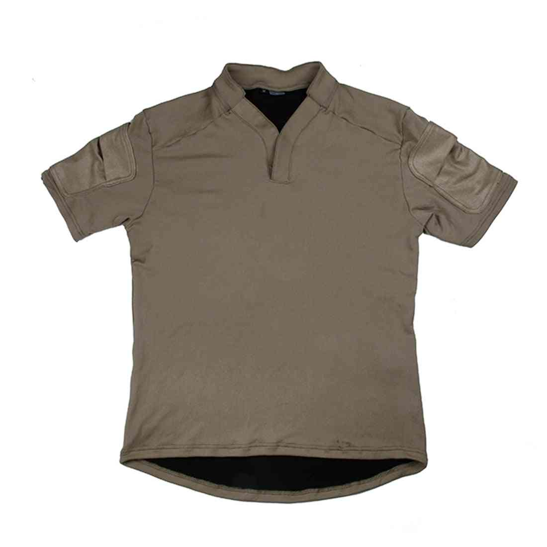 One Way Dry Tactical Base Rugby T-shirt With Two Envelope Pockets On The Sleeves