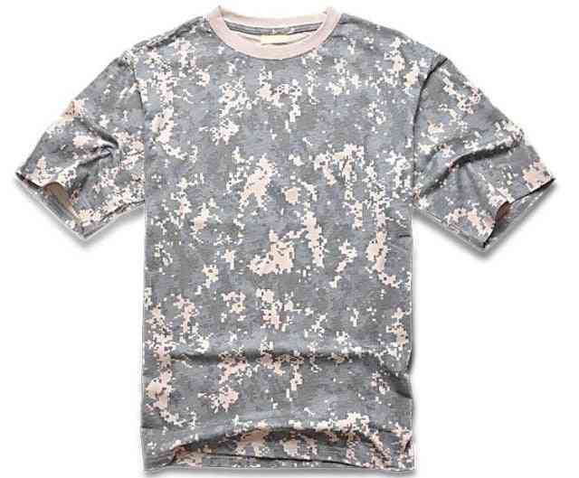 Camouflage/army Print O Neck Sleeve T-shirt