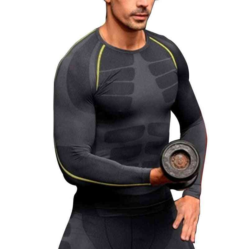 Men Compression Base Layer Tight Top Shirt, Under Skin Long Sleeve Sports Gear