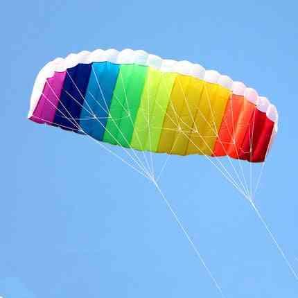 Dual-line Parafoil, Rainbow Beach Stunt Kite With Handle