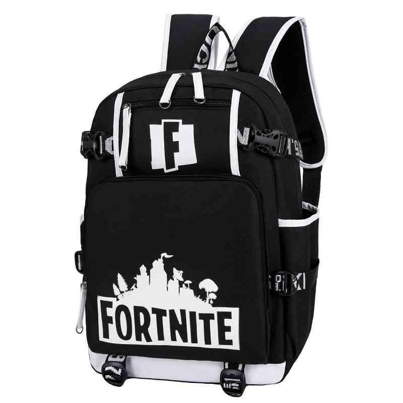 Men Girl Teens Schoolbag Multifunction Usb Backpack Travel Camping Computer Mountaineering Anime Bag