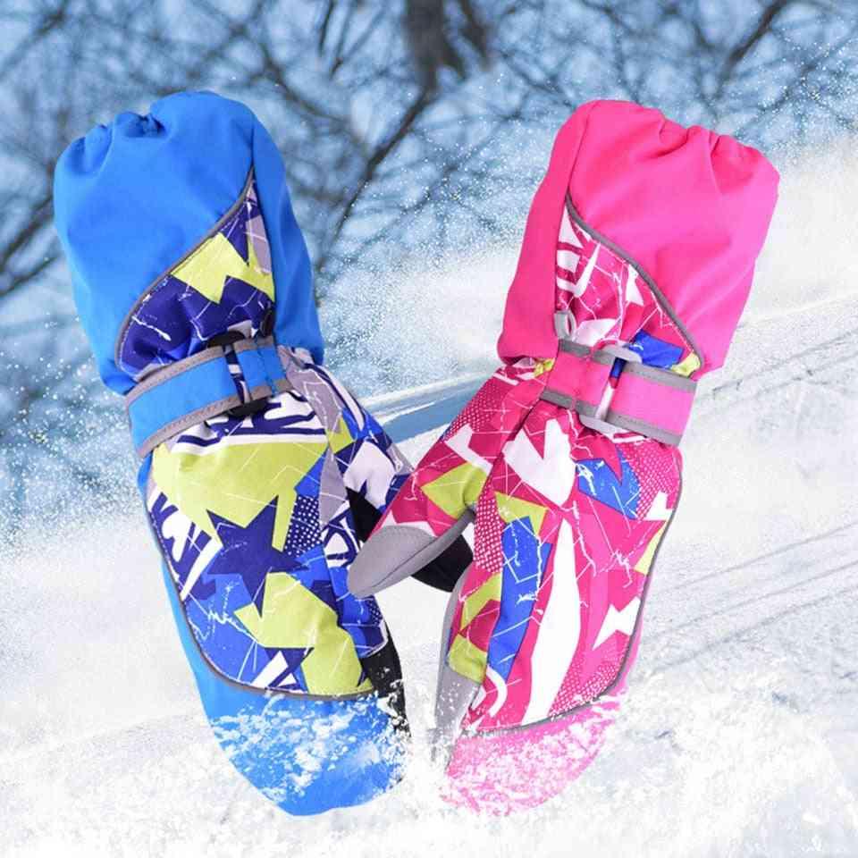 Children Ski  Winter Plus Wool Warm Snowboard Glove