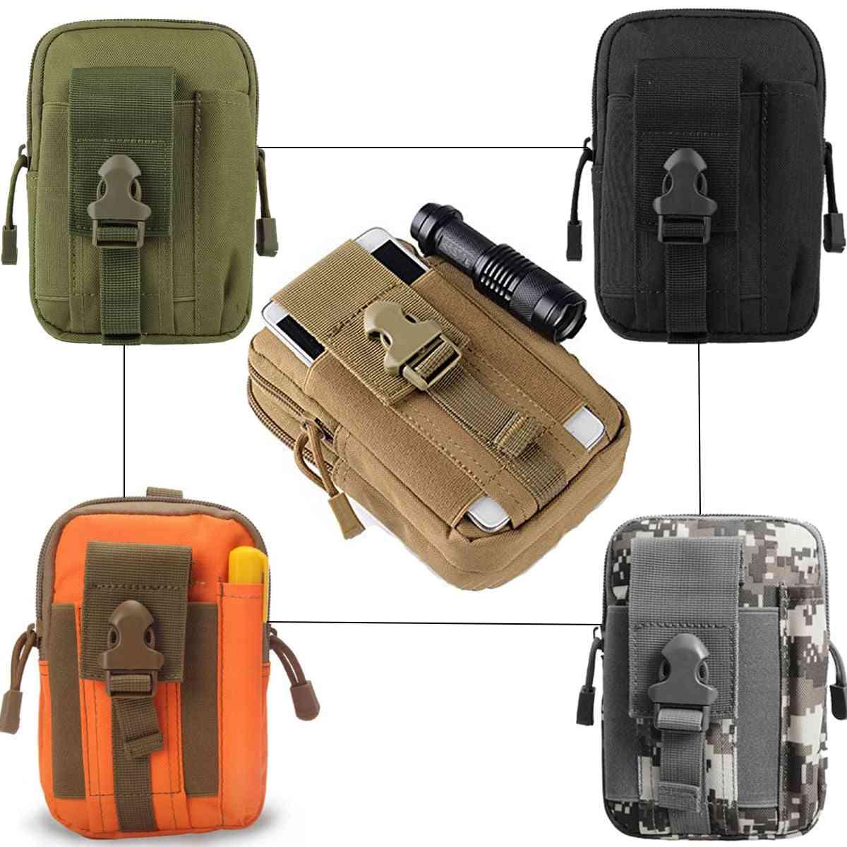 Military Molle Pouch Tactical Belt, Waist Bag