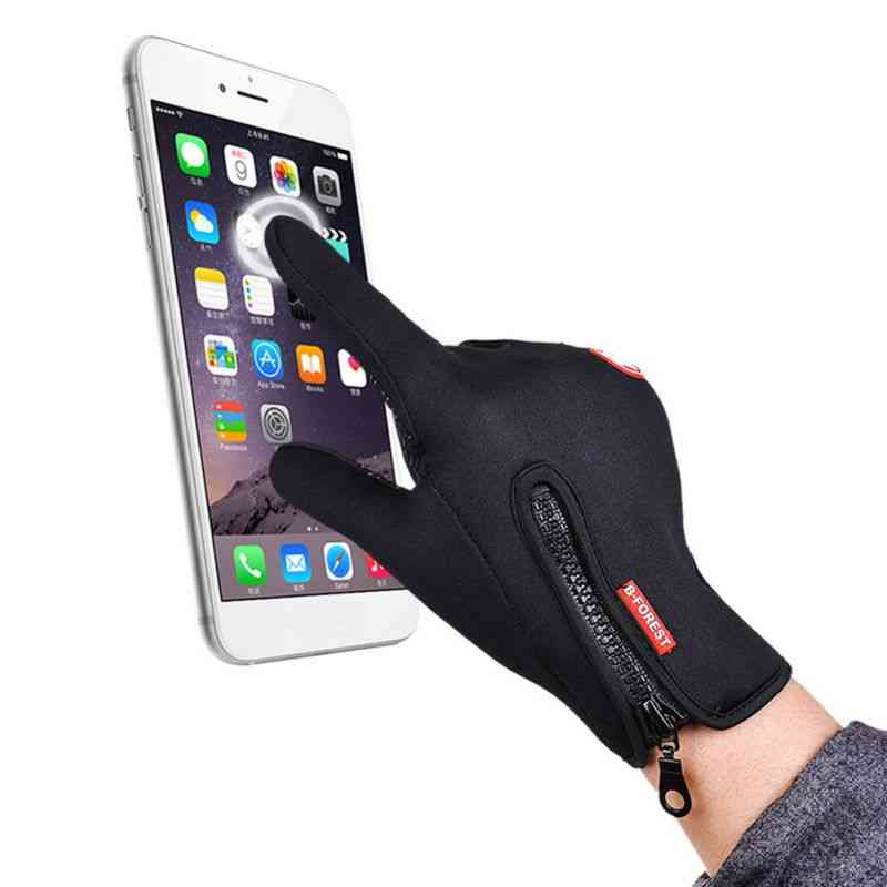 Men's And Women's Fleece Gloves, Touch Screen Windproof Warm Riding, Neutral Outdoor Mountaineering