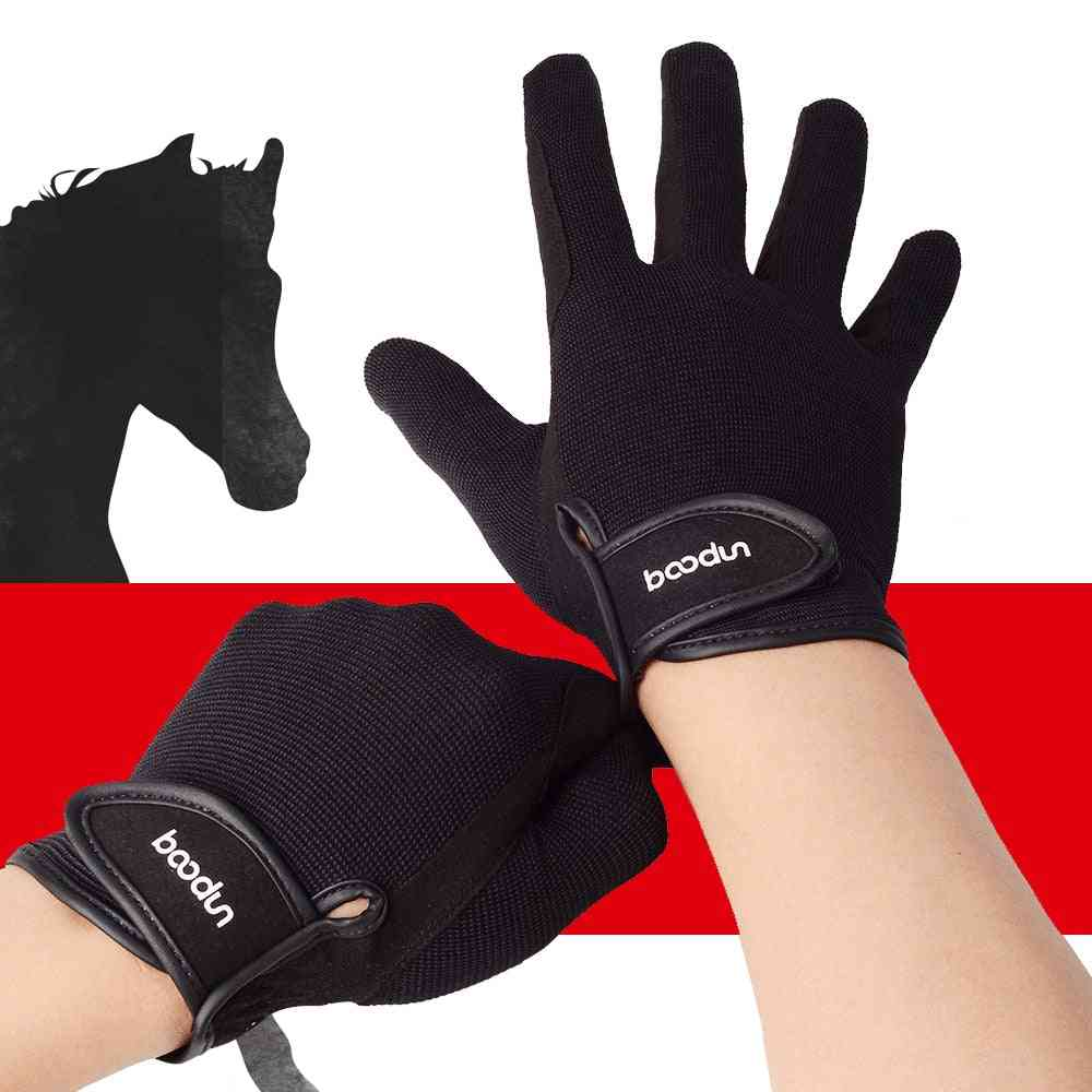Equestrian Riding Gloves, Professional Wear Resistant, Anti-skid Baseball For Sports