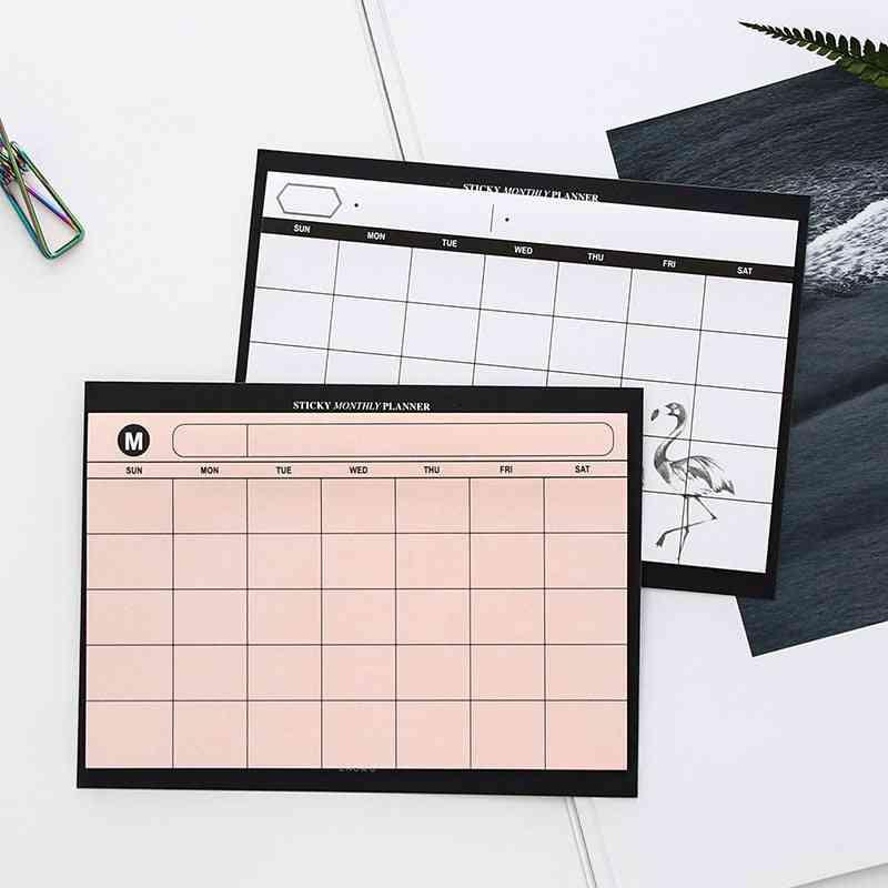Creative Simple Weekly Planner Book Desktop Schedule, Month-plan Tear The Notebook Work Efficiency Summary