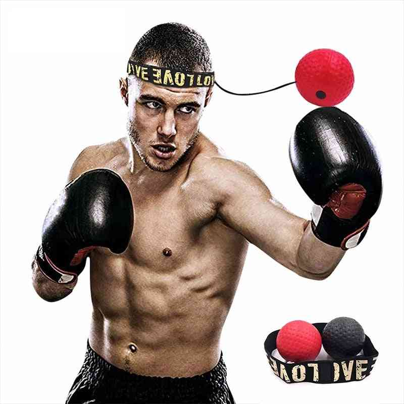 Boxing Reflex Ball Training With Headband