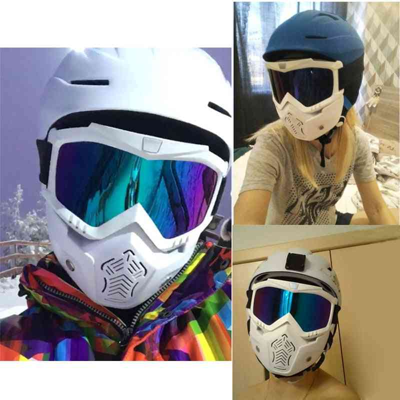 Adult Flexible And Detachable Goggles For Nose And Face Protection