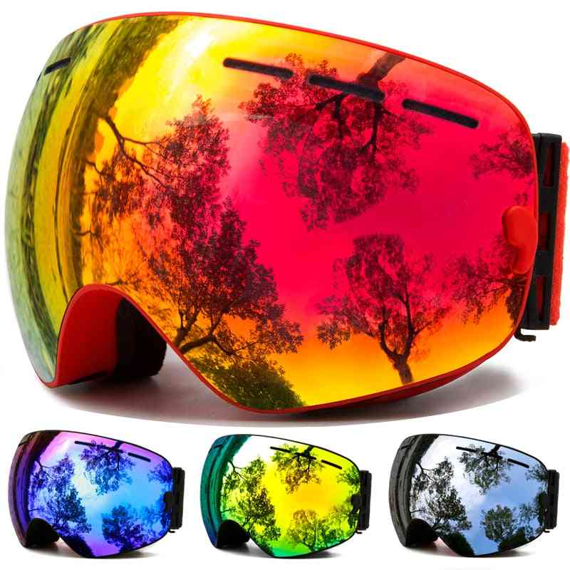 Winter Snow Sports Goggles With Anti-fog, Uv Protection For Men And Women